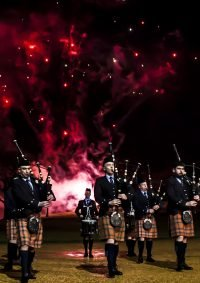 pipe band fireworks