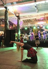 Scottish dancer performance