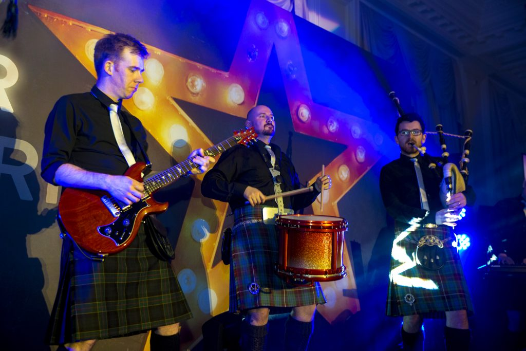 bagpipe rock band