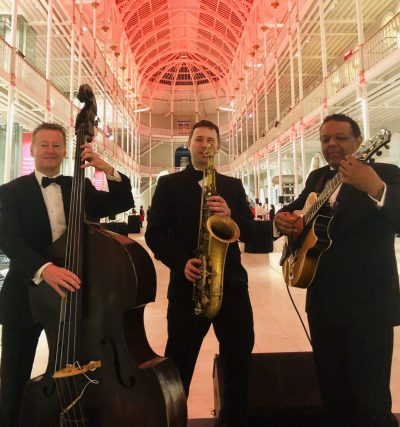 jazz trio at museum